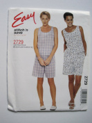McCall's Pattern 2729 Misses' Top and Pull-On Shorts Sizes XS-S-M