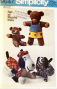 Simplicity 9647 Sewing Pattern Crafts Plush Bears Dogs