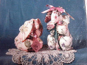 SUSIE BUNZ - A BUNNY SEWING PATTERN FROM SALLY JEANS FRILLS & THINGS -25cm & 18cm BUNNYS