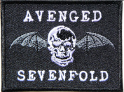 AVENGED SEVENFOLD Skull Bat Heavy Metal Rock Punk Music Band Logo Polo T shirt Patch Sew Iron on Embroidered Badge Sign Costum