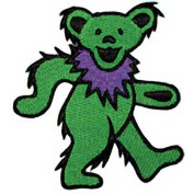 The Grateful Dead Green Dancing Bear Embroidered Patch