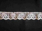 Ivory Scalloped Lace Trim Insert Fabric 25mm