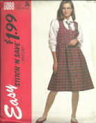 Misses Jumper And Shirt, Size:6-8-10-12. McCall's Easy Stitch'N Save Sewing Pattern 6088