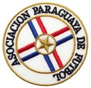 Paraguay Asociacion Paraguaya De Futbal Football Round Fifa World Cup Soccer Iron on 7.6cm Patch Crest Badge ... New