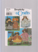 Simplicity Crafts Pattern 8835 ; 70cm Doll & Clothes