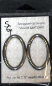 "Sisters' Common Thread 1 1/2"" (3.81cm) Spring Ring ~ Nickel Finish ~ 2 Pack"