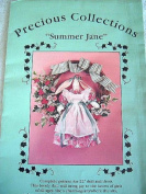 SUMMER JANE 60cm DOLL & DRESS WITH WREATH - SEWING PATTERN FROM PRECIOUS COLLECTIONS