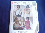 Vintage 1990's McCall's 5227 Misses Top/Shirt/Tank Sewing Pattern #5227 Size B 8-10-12 UNCUT