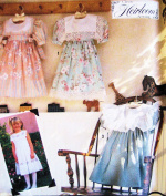 Simplicity 7193 Sewing Pattern Girls Heirloom Dress, Size 3 to 8 Square Collar, Gathered Skirt to Yoke