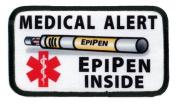 EPIPEN INSIDE Medical Alert Symbol 6.4cm x 11cm Rectangle Sew-on Patch