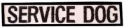 Small Service Dog Bar Patch