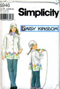 Simplicity Daisy Kingdom Fleece Coat and Hat Sewing Pattern #5946