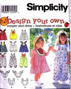 Simplicity Sewing Pattern 9008 Toddler Watermelon Romper and Dress, Size AA