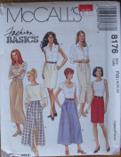 McCall's Pattern 8176 Misses' Skirts in 2 Lengths Size 18,20,22