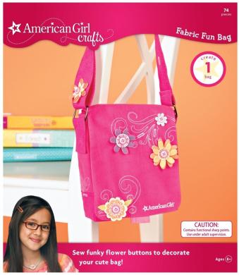 American Girl Crafts Fun Fabric Bag Warm Colours