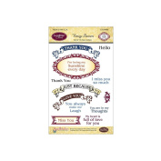 JustRite Stampers Clear Stamps - Vintage Banners & Labels