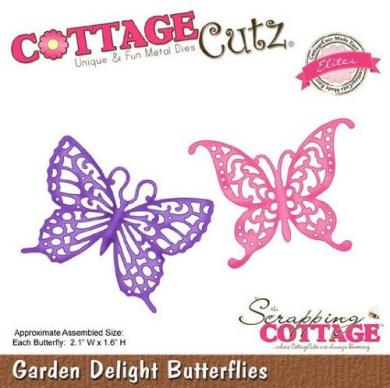 Cottage Cutz Dies - Garden Delight Butterflies