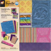 American Traditional Cardstock Bundle - 30cm x 30cm Scrapbook Cardstock Pad Assortment Gypsy Brights with Smaller Accents Sheets
