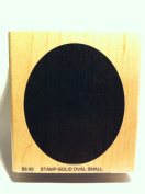 Solid Oval Background Rubber Stamp