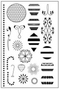 Vintage Ornaments Clear Unmounted Rubber Stamp Set
