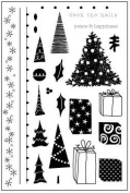 Deck the Halls Clear Unmounted Rubber Stamp Set