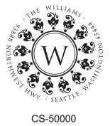 Maxlight C-43 Custom Round Monogram Self-Inking Address/initial Stamp