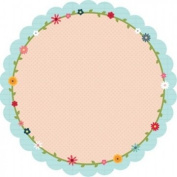 My Little Shoebox Lovely Day Collection Flower Ring Circle Pattern Paper, 25-Sheet, Diameter 28cm