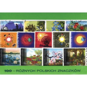Polish Collectible Postmarked Stamp Sets - 100 Mixed Poland