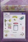 See D's Cute As a Bug 17 Rubber Stamps and Case # 50043 Inque Boutique Sugarloaf