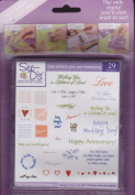 See D's Love, Love, Love 29 Rubber Stamps and Case # 50152 Inque Boutique Sugarloaf