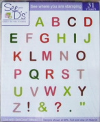 See D's Abby Alphabet 31 Pure Rubber Stamps + Case # 50080 Inque Boutique Sugarloaf
