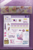 See D's In Fashion 28 Rubber Stamps Retro + Case # 50008 Inque Boutique Sugarloaf