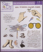 See D's Collage Elements 15 Pure Rubber Stamps + Case # 50206 Inque Boutique Sugarloaf