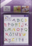 See D's Freeform Alphabet 32 Rubber Stamps and Case # 50076 Inque Boutique Sugarloaf