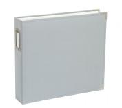 12 X 12 D-ring - Cloth Album - Grey