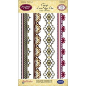 JustRite Stampers Clear Stamps - Classic Lace Edges One