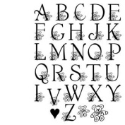 My Sentiments Exactly Clear Rubber Stamps -Baby Caps Font