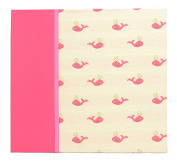 Hom Essence 0396 30cm by 30cm Post Bound Scrapbook, Fabric with Whale Icon and Faux Leather Accents