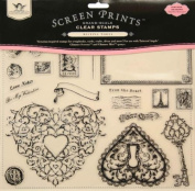 Screen Prints Grand Scale Clear Stamps 30cm x 30cm Sheet-Timeless Romance 22 Pieces