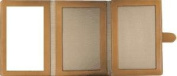 Large trifold in coral and tan leather by Kate Spade - 3x5