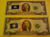 1976 Two Dollar Bill with Bicentennial Stamp
