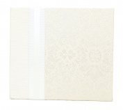 Hom Essence 0438 20cm by 20cm Post Bound Wedding Scrapbook, Cream Fabric with Ribbon