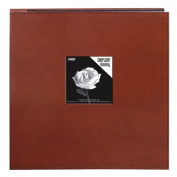 Pioneer 30cm by 30cm Snapload Sewn Leatherette Frame Cover Memory Book, Brown