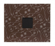 American Crafts Patterned Album D-Ring, 30cm by 30cm , Chestnut Vines