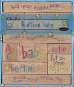 Bedtime Baby - 11 Wood Mounted Decorative Stamps