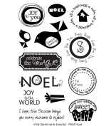 My Sentiments Exactly Clear Stamp Y, Noel