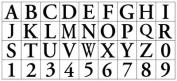 Alphabet Stamp Squares - Classic