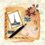Dove of the East 25-Sheet Letters From Paris Paper for Scrapbooking, Paris Vintage, 30cm by 30cm