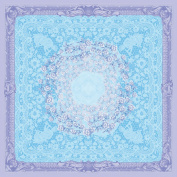 Dove of the East 25-Sheet Blue Room Paper for Scrapbooking, Russia Journey Linen and Lace, 30cm by 30cm