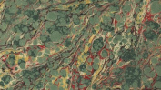 ITALIAN MARBLE - Veined Marble - Greens Red Yellow